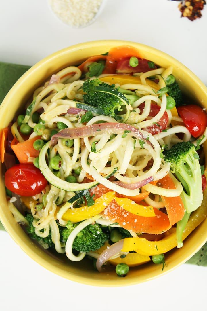 Zucchini Pasta Primavera