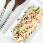 Spiralized Kohlrabi, Ruby Radish and Shaved Asparagus Salad with Lemon-Chive Dressing