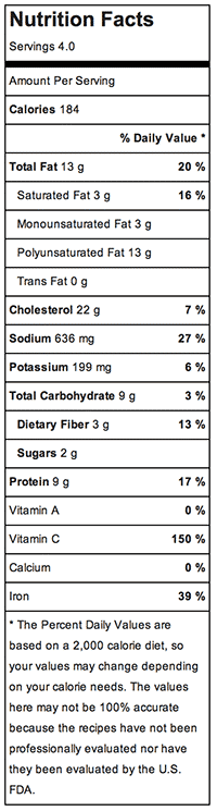 Nutritional Information - Inspiralized