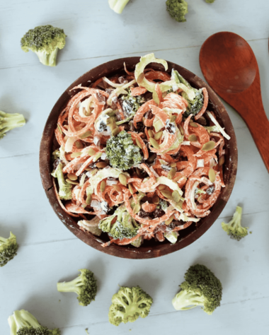 Summer Broccoli & Carrot Slaw Salad