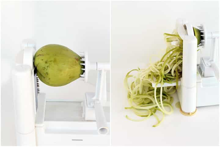 How to Spiralize a Chayote - Inspiralized.com