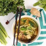 Vegan Lemongrass Thai Green Curry Soup with Zucchini Noodles