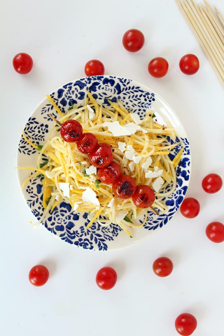 Yellow Squash with Ricotta Salata and Grilled Tomatoes + OXO Giveaway