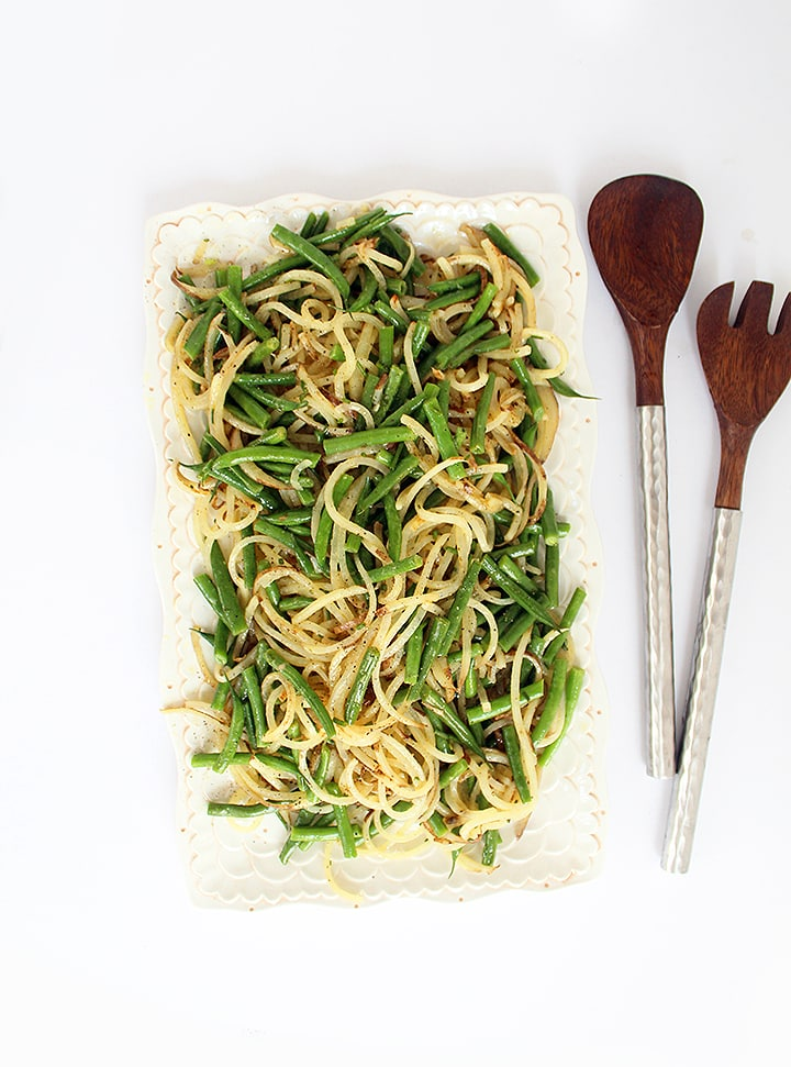 Potato Noodle and Green Bean Salad with Chive-Dijon Vinaigrette