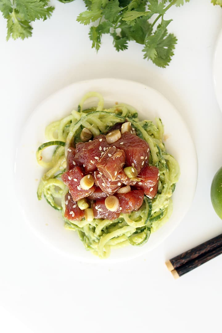 Tuna Tartare With Cucumber Salad And Avocado Recipes — Dishmaps