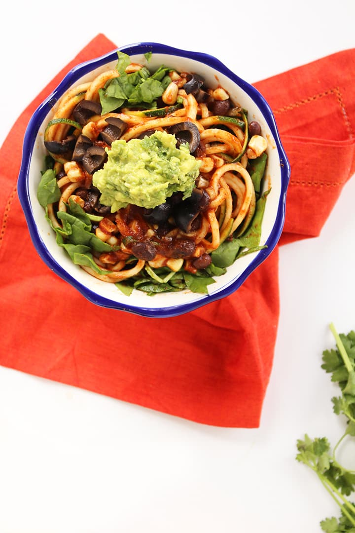 Vegetarian Zucchini Spaghetti Tacos