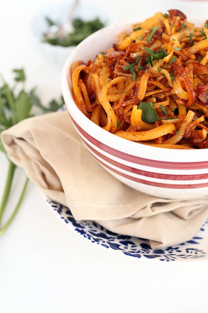 Bacon Potato Noodle Home Fries