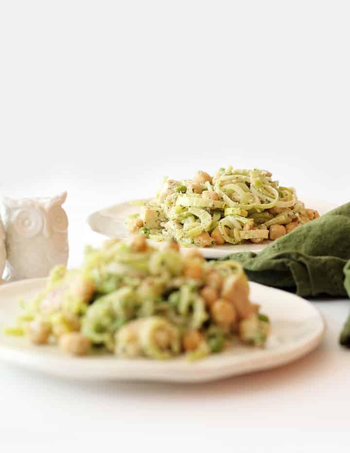 Chicken and Chickpea Broccoli Noodle Pasta