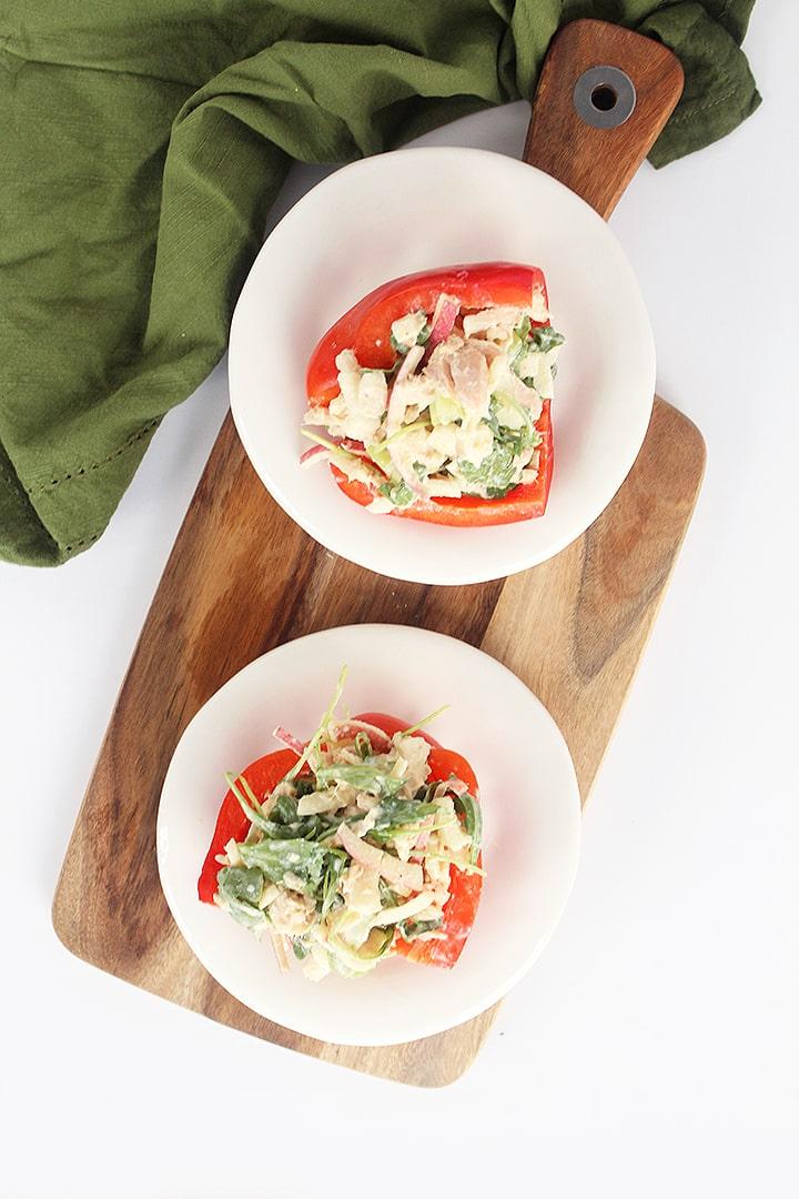 Apple Tuna Salad Bell Pepper Sandwich