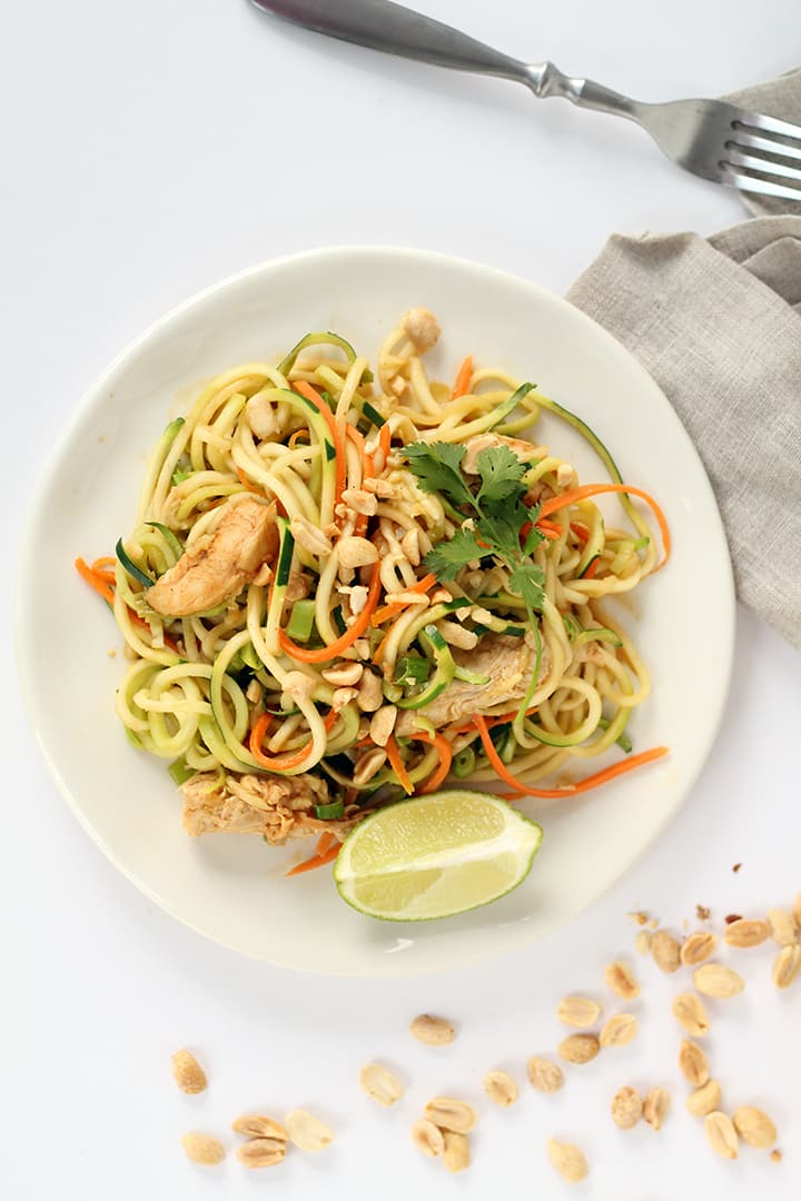 Asian Peanut Noodles With Chicken Lightened Up Recipe — Dishmaps