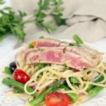 Spiralized Tuna Nicoise Salad
