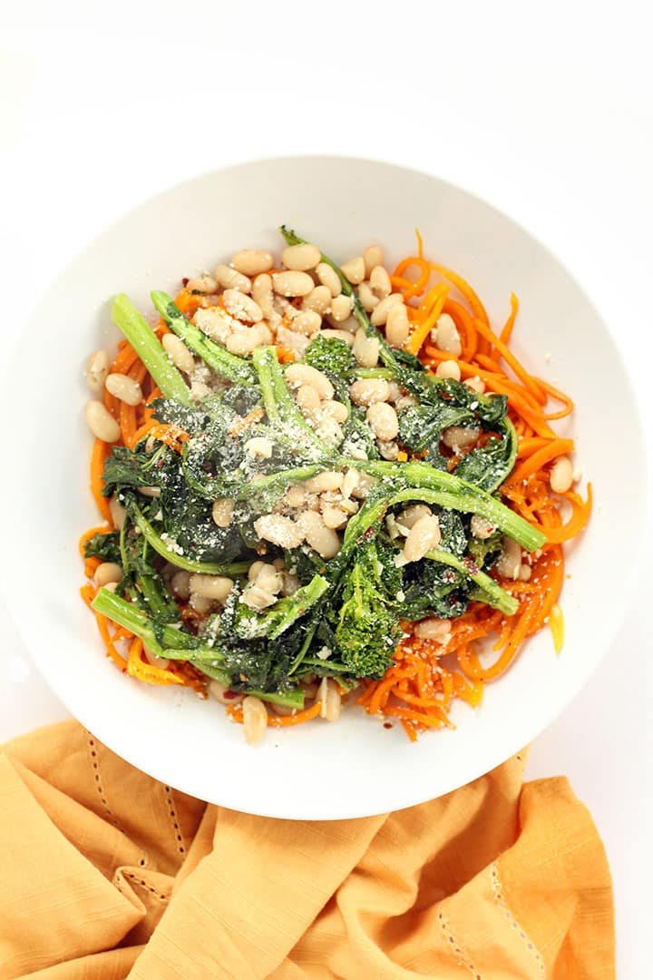 Butternut Squash Pasta with Spicy Garlicky Broccoli Rabe and White ...