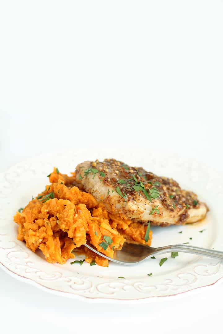 "Pumpkin-Goat Cheese Sweet Potato ""Risotto"" with Maple-Pecan .."