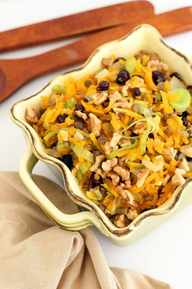 Fall Harvest Butternut Squash and Lentil Pilaf