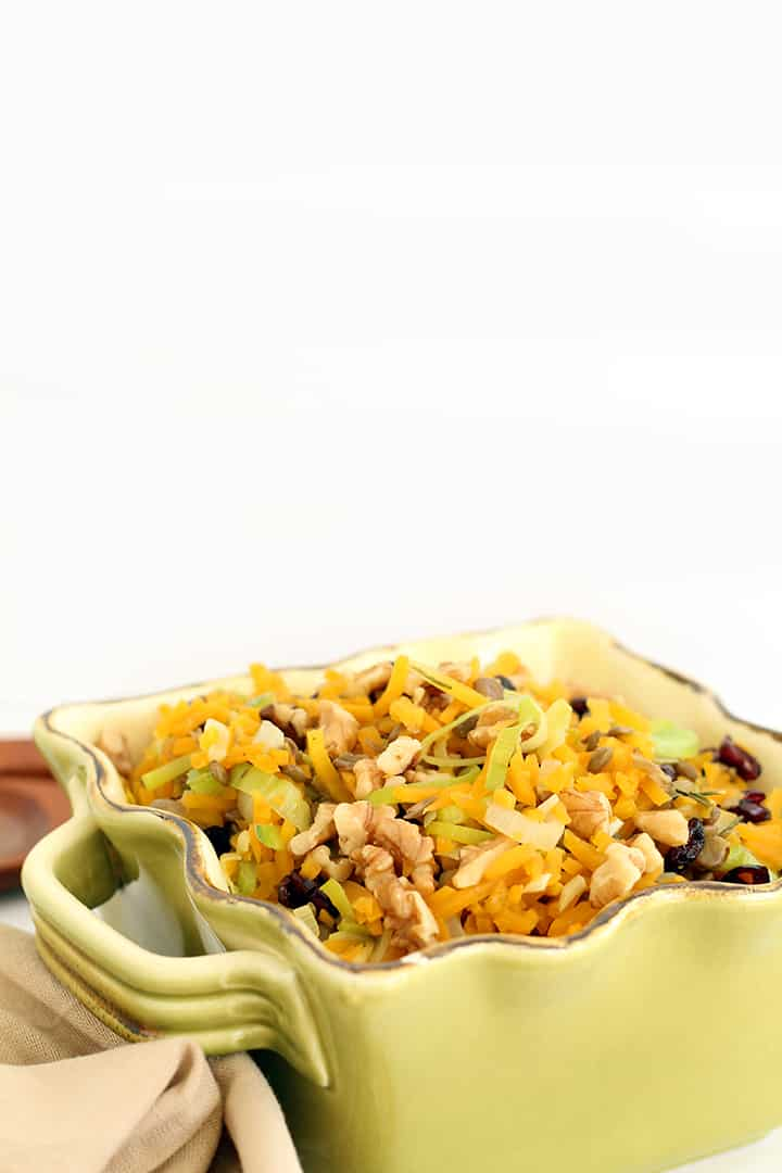 Fall Harvest Butternut Squash Rice and Lentil Pilaf