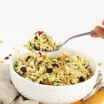 Zucchini Rice with Cranberries, Bacon, Goat Cheese and Walnuts with Maple-Dijon Dressing