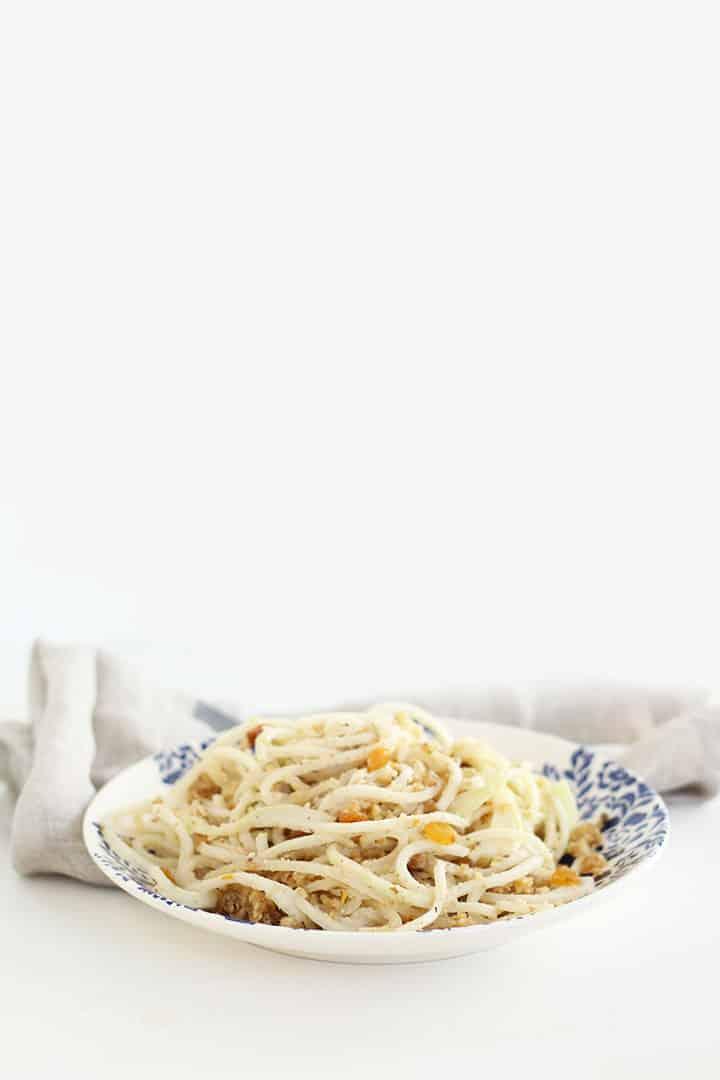 Kohlrabi Spaghetti alla Foriana