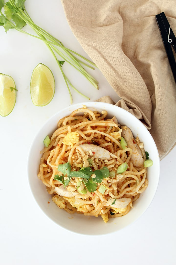 Chicken Pad Thai with Daikon Noodles