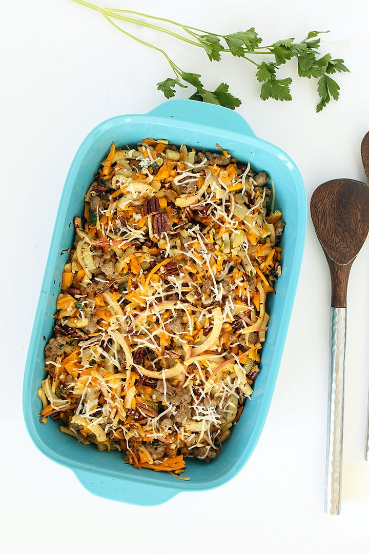 Butternut Squash Rice, Sausage, Apple and Pecan Stuffing