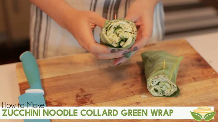 Zucchini Noodle Collard Green Wrap Video