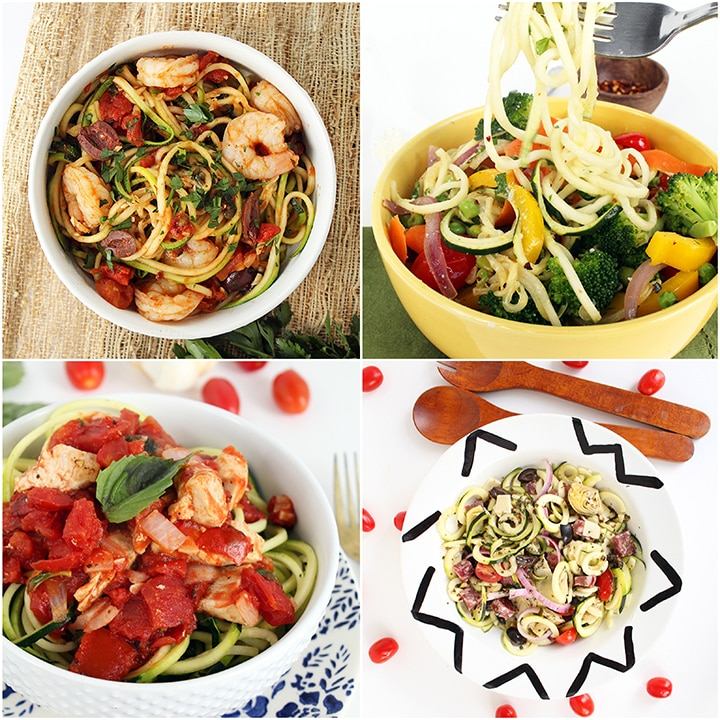 Healthy Spiralized Recipes under 300 Calories + Tips for Making Healthier Recipes