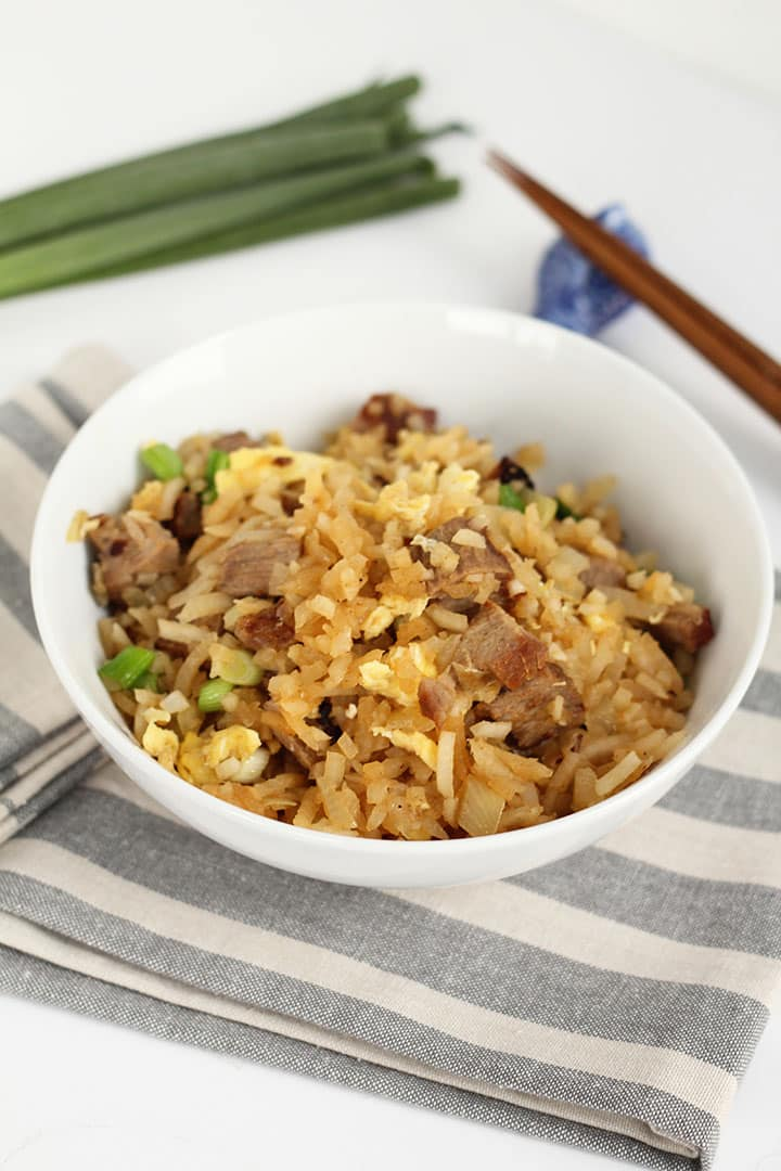 "Pork Fried ""Turnip"" Rice"