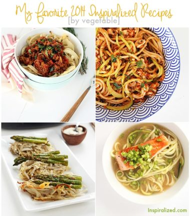 Favorite Spiralized Recipes by Vegetable