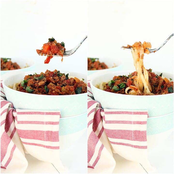 Chunky Lamb Ragu with Celeriac Noodles