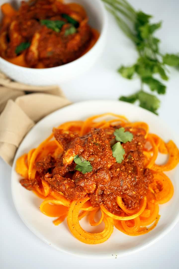 Chicken Tikka Masala with Butternut Squash Fettucine