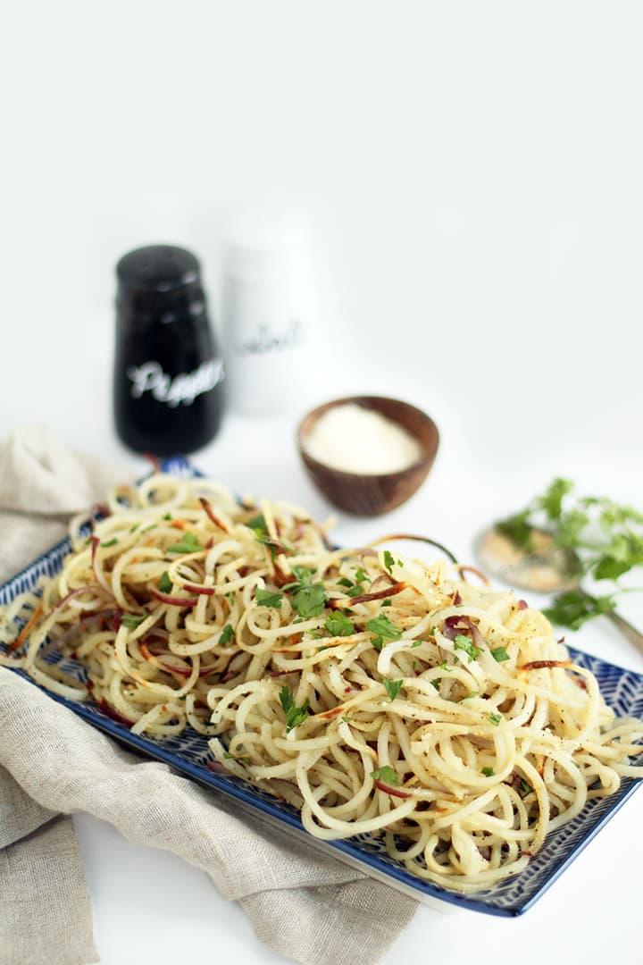 Easy Roasted Garlic-Parmesan Potato Noodles