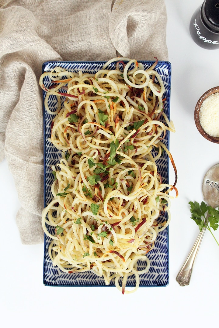 Easy Roasted Garlic-Parmesan Potato Noodles