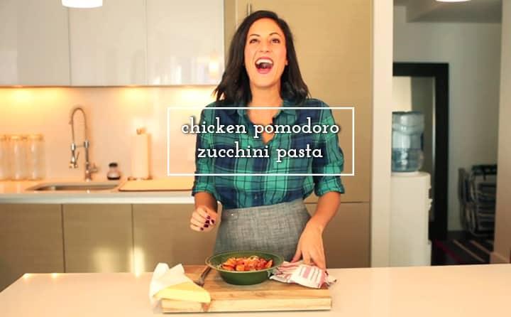Chicken Pomdoro Zucchini Pasta Inspiralized.com
