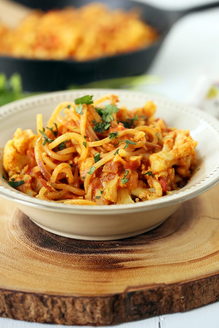 One Pot Spiralized Aloo Gobi + Meet Meaghan!