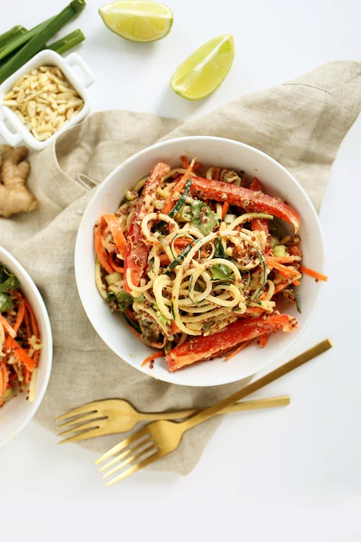 Thai Quinoa and Zucchini Noodle Salad