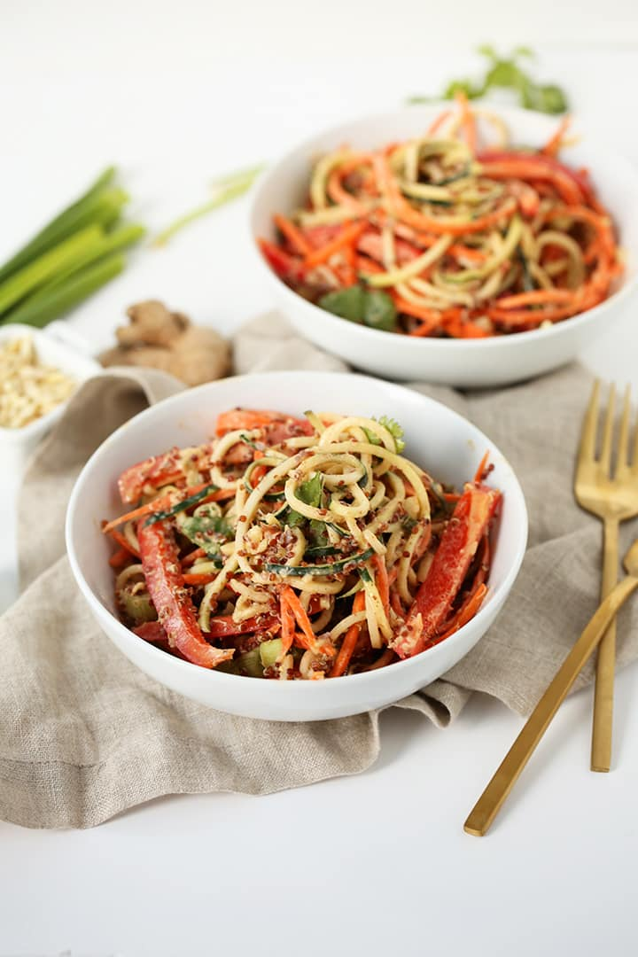Thai Quinoa and Zucchini Noodle Salad + Urban Remedy Giveaway