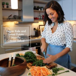 Vegan Kale and Sweet Potato Noodle Caesar Salad - Inspiralized.com
