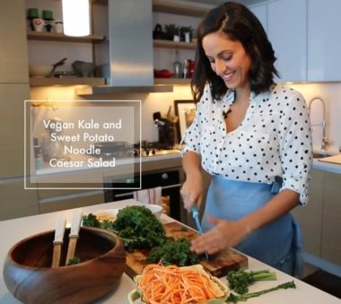 Video: Vegan Kale and Sweet Potato Noodle Caesar Salad + Cookbook Outtakes