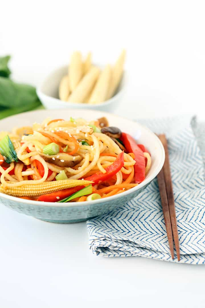 Daikon Noodle Vegetable Lo-Mein