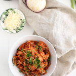 Spiralized Turnip Mushroom and Tomato Risotto