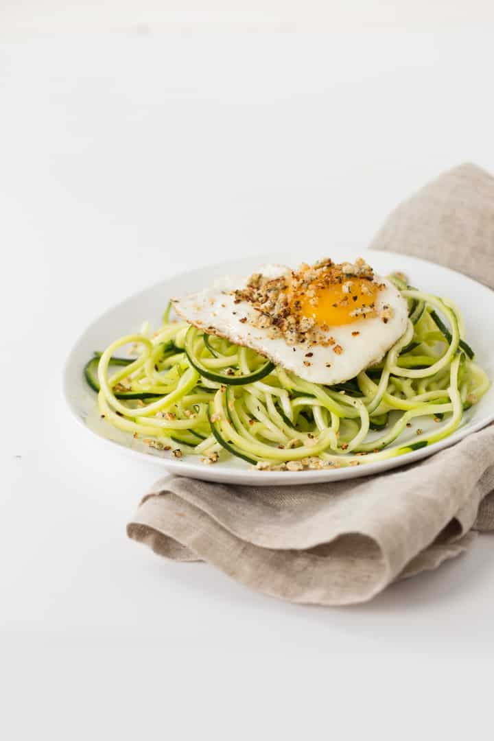 Gluten-Free Zucchini Spaghetti Fried Eggs