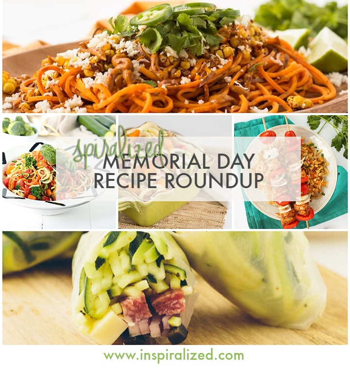 Spiralized Memorial Day Recipe Roundup