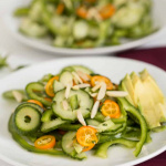 Mint-Ginger Kumquat, Bell Pepper and Cucumber Noodle Salad