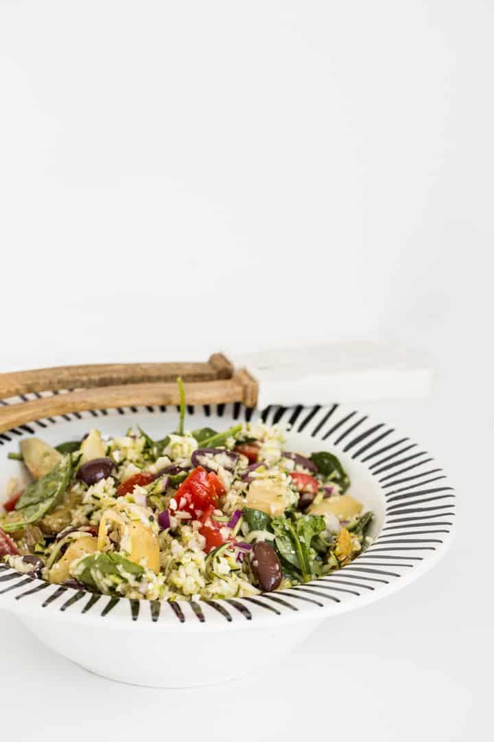 "Greek Zucchini ""Orzo"" Salad"