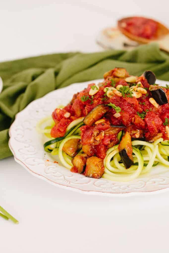 Zucchini Pasta Alla Norma