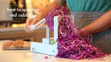How to Spiralize Red Cabbage