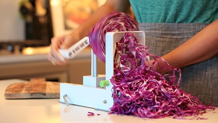 How to Spiralize Red Cabbage by Inspiralized.com