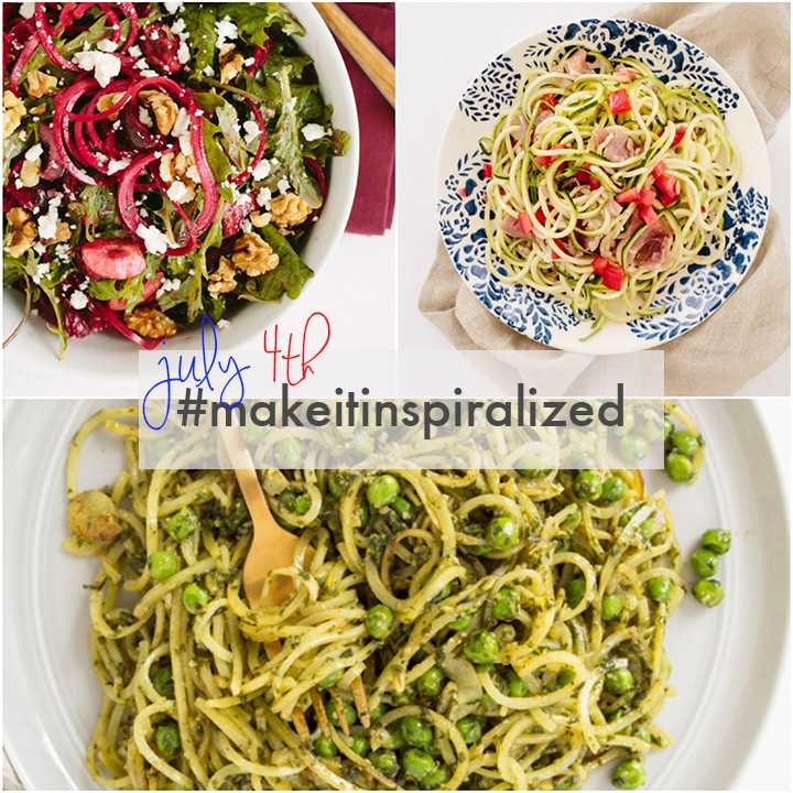 July 4th Spiralized Recipe Roundup