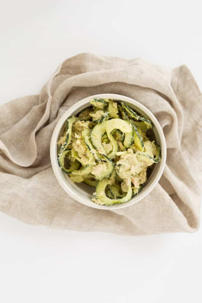 Avocado-Tuna Salad with Cucumber Noodles