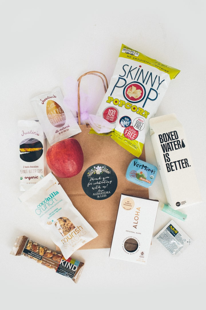 Inspiralized Our Wedding Welcome Bags