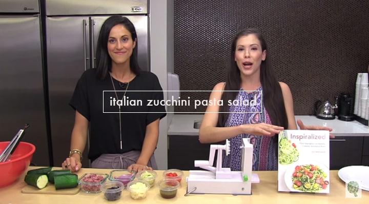 Inspiralized Zucchini Pasta Salad